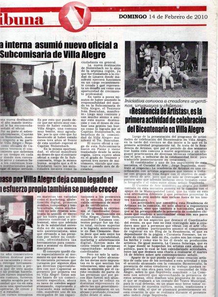 Diario Tribuna. residencia de artistas Social Summer Camp