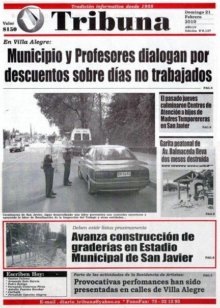 Diario Tribuna. cobertura de la residencia de artistas Social Summer Camp