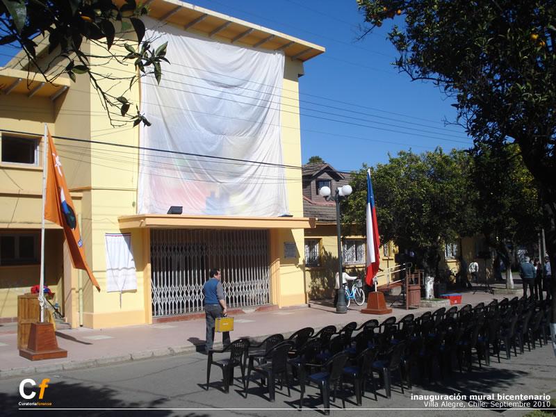 Mural Bicentenario Villa Alegre - residencia de artistas Social Summer Camp